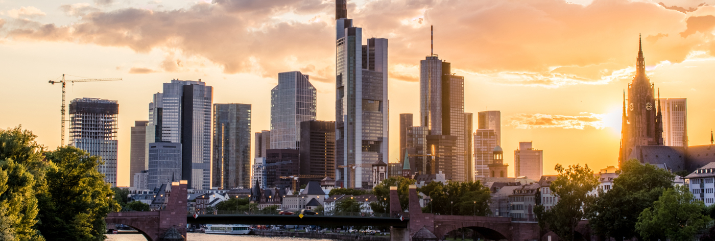 View of Frankfurt's banking district